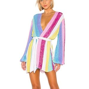 Retrofete Gabrielle Unicorn Robe Dress Small NWT
